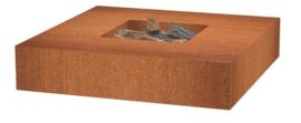 Cortenstaal Vuurtafel/BBQ 120x120x28cm