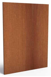 Cortenstaal schuttingdeel / paneel 135x5x180cm