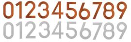 RVS of Cortenstaal cijfers 0 t/m 9