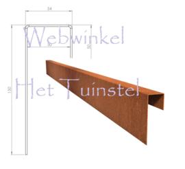 BetonTop Cortenstaal profiel 230x5,4x15cm