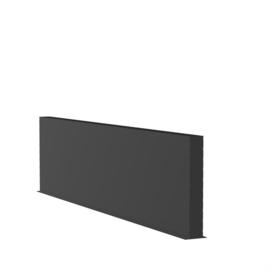 Aluminium wand L4000xD150xH1000mm. Gratis bezorgd.