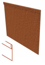 Kantopsluiting Cortenstaal geplet 230x02x10cm