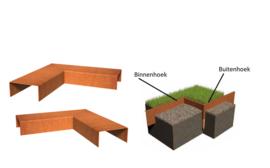 BetonTop Cortenstaal profiel hoek 30x30x10,4x5cm