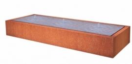 Cortenstaal ST watertafel, 4 fonteinen 4000x1000x400 mm. Gratis bezorgd.