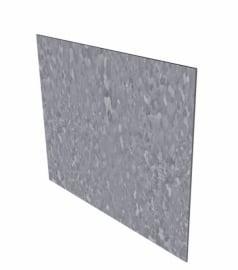 Kantopsluiting Verzinkt staal recht 230x0,2x20cm