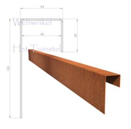 BetonTop Cortenstaal profiel 230x6,4x15cm