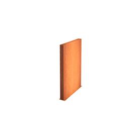 Cortenstaal wand 150x15x135cm