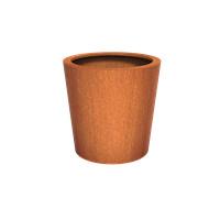 Cortenstaal plantenbak rond Tapse cilinder 100x100cm