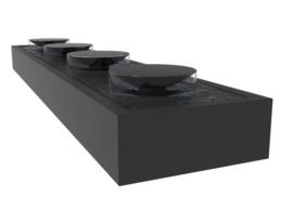 Aluminium Watertafel met schalen 500x100x40cm