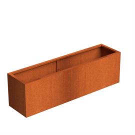 Cortenstaal ST plantenbak L2000 x B500 x H600 mm.