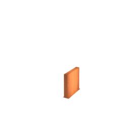 Cortenstaal wand 100x15x60cm