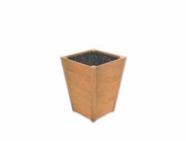 Plantenbak hardhout Sevilla Taps 55x55x72cm