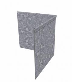 Hoekstuk binnenhoek geplet 90° Verzinkt staal 300x300x200 mm. en 2 mm.dik. Afhalen of bezorgen bij kantopsluiting