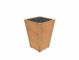 Plantenbak ST hardhout Sevilla Taps L700xB700xH980mm gratis bezorgd