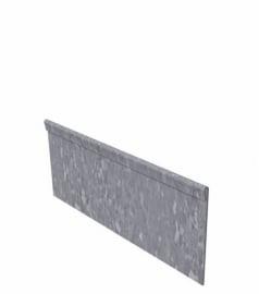 25 st. Kantopsluiting ST Verzinkt staal geplet 2300 x 2 x 100 mm.