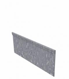 Kantopsluiting verzinkt staal geplet 230x0,3x15cm