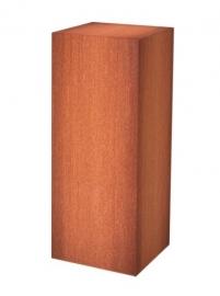 Sokkel MW Cortenstaal  25x25/80 cm hoog. Gratis bezorgd.