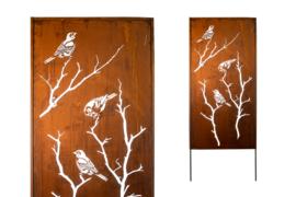 Tuinscherm Iron ecoroest vogels dicht 200x100 cm,   Afhaalprijs