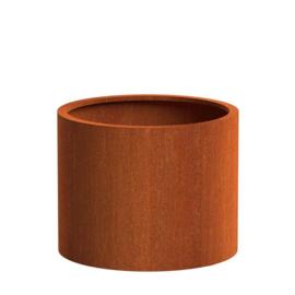 Cortenstaal ST plantenbak rond cilinder 1000 x H 800mm.