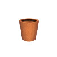 Cortenstaal plantenbak rond Tapse cilinder 80x80cm