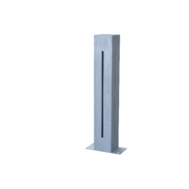 1 st Verzinkt staal  tuinlamp K1Z400  100x100x400mm. incl. connector en LEDlight gratis bezorgd