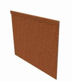 Kantopsluiting Cortenstaal geplet 230x0,2x15cm
