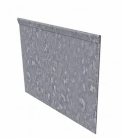 1 st. Kantopsluiting Verzinkt staal geplet 2300 x 2 x 150 mm. afhaalprijs