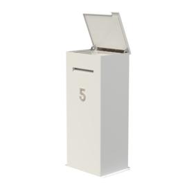 Aluminium ST brievenbus Case 500x400xH1000mm.  Gratis bezorgd.
