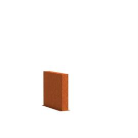 Cortenstaal wand 90x15x165cm