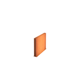 Cortenstaal wand 150x15x80cm
