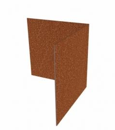 Hoekstuk recht 90° ST Cortenstaal 300x300x200 mm. en 3 mm.dik afhalen of bezorgen