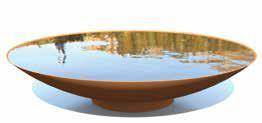 Cortenstaal Waterschaal ST Ø120cm H21cm