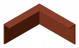 1 st. Kantopsluiting CorTen staal buitenhoek 100 mm gezet  x 290 mm. beenlengte 300 mm.  te bestellen bij strips