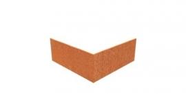 Hoekstuk recht 90° ST Cortenstaal 300x300x200 mm. en 2 mm.dik afhalen of bezorgen