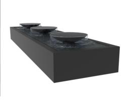 Aluminium Watertafel met schalen 400x100x40cm