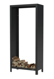 Gecoat cortenstalen houtopslag  80x40x180cm