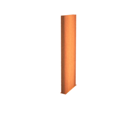 Cortenstaal wand 100x15x200cm