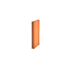 Cortenstaal wand 100x15x135cm