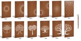 Cortenstaal schuttingdeel / paneel Abstract