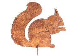 Schroefeekhoorn zittend Iron ecoroest  24 x 20 cm