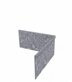Hoekstuk ST binnenhoek geplet 90° Verzinkt staal 300x300x100 mm. en 2 mm.dik. Alleen te bestellen bij strips!!