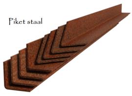Kantopsluiting Cortenstaal recht 230x0,3x15 cm