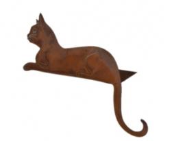 Liggende kat op plaat
