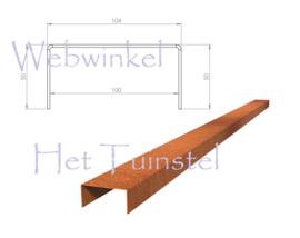 BetonTop Cortenstaal profiel 230x10,4x5cm