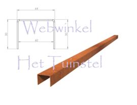 BetonTop Cortenstaal profiel 230x6,4x5cm