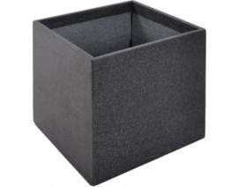 Plantenbak Polymeer beton 60 x 60 x 60 cm kleur antraciet  zwart afhaalprijs