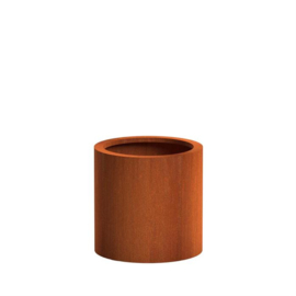 Cortenstaal plantenbak rond, cilinder