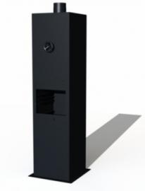 Gecoat ST tuinhaard Borr 500x500x2000mm. AFHAALAANBIEDING