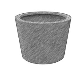 Aluminium plantenbak tapse cilinder