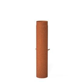 Cortenstaal Kachelpijp 15,4x100cm + klep
